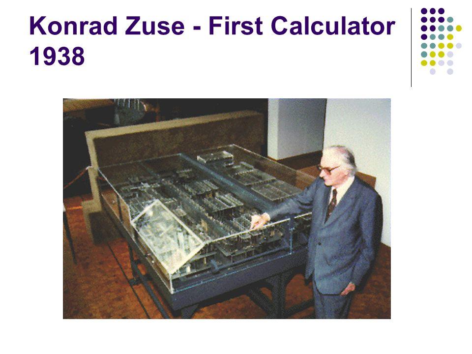 Konrad Zuse - First Calculator 1938