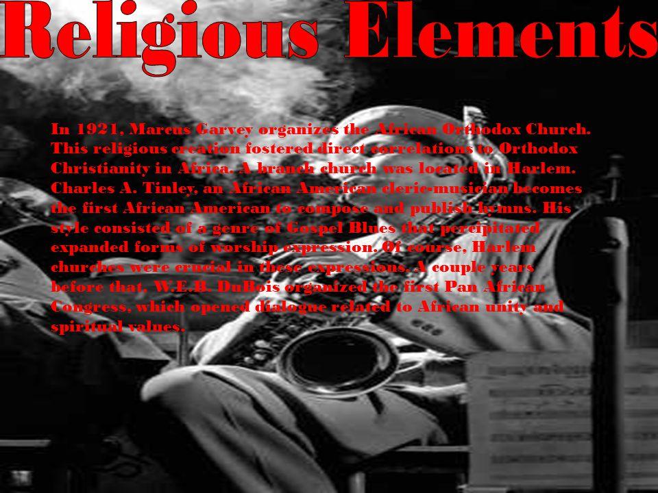 In 1921, Marcus Garvey organizes the African Orthodox Church.