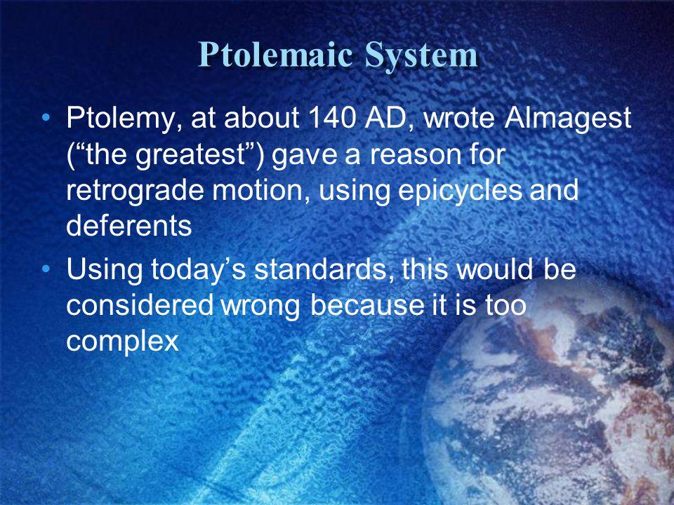 Aristotle AristarchusPtolemy