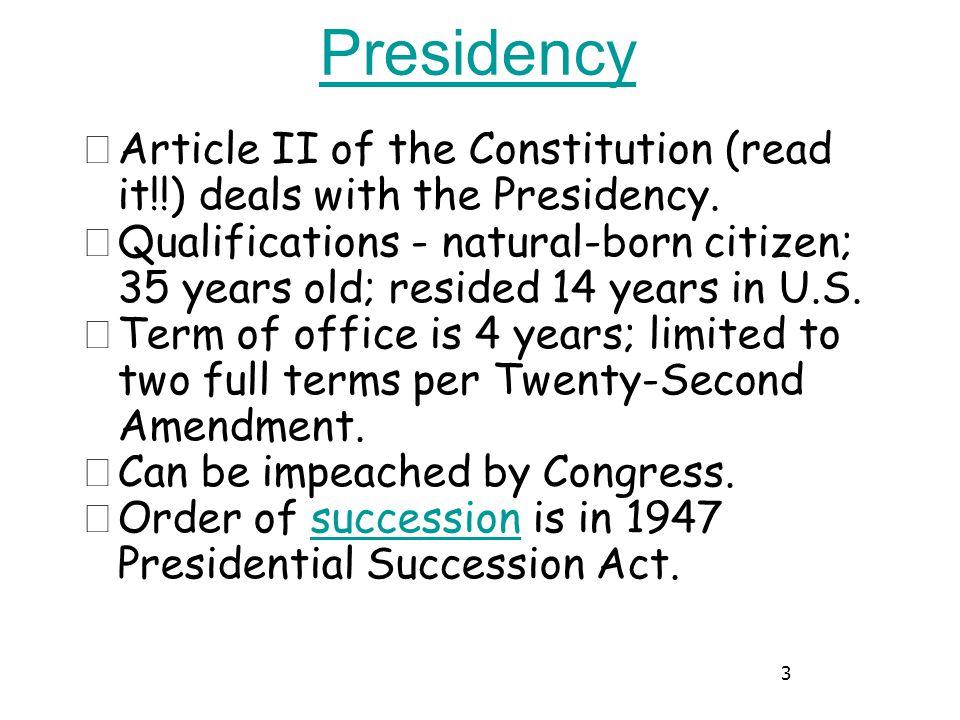 4 Presidential Succession