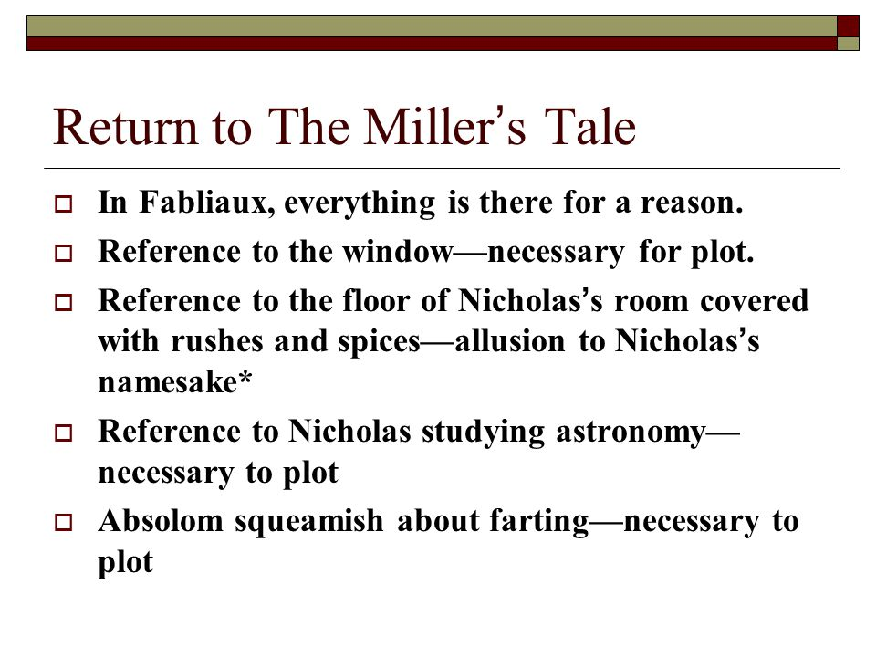 From the millers tale in the canterbury tales, if nicholas greedy? or slothy?