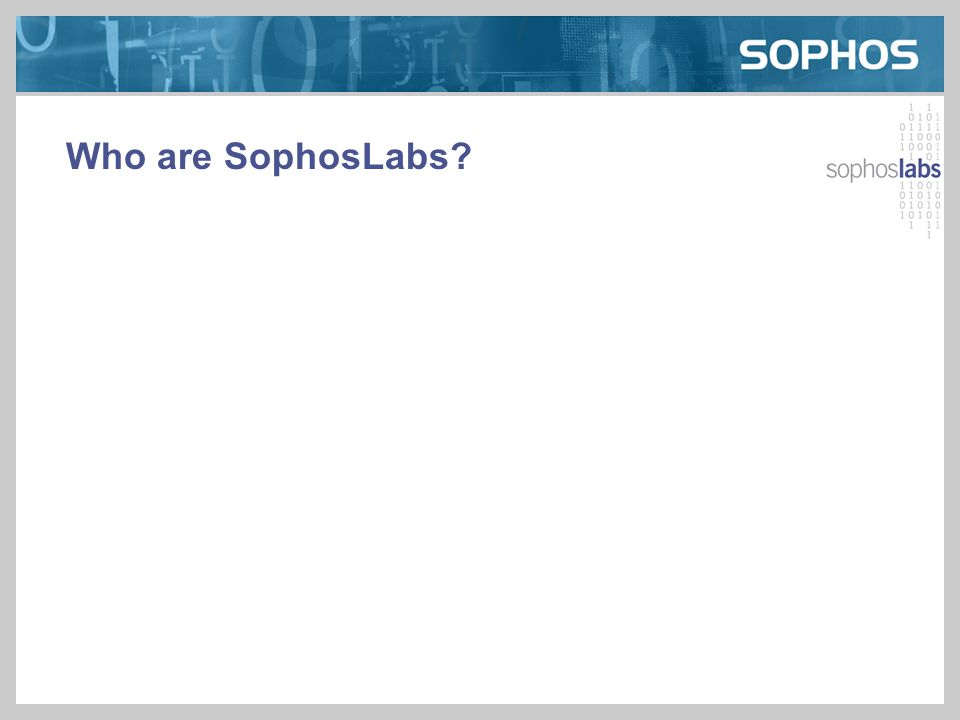Who are SophosLabs?