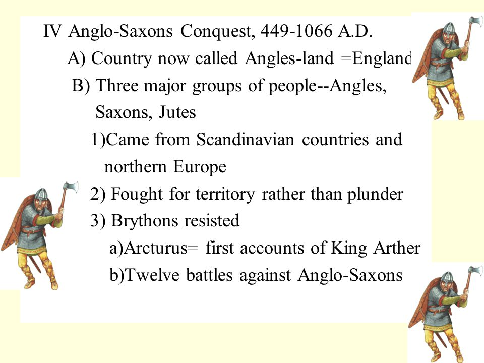 VI Second Danish Invasion--10th Century A) Forced Saxon witan to elect a Danish King.