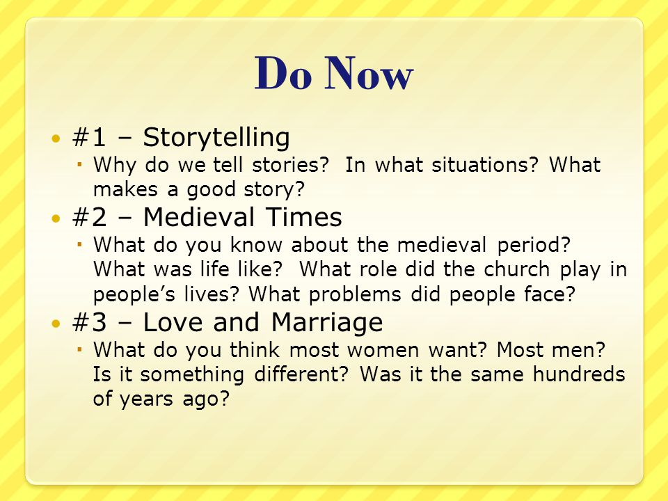 Classwork Contemplate Chaucer's reason for including such a crude tale and the response medieval audiences may have had to the story.