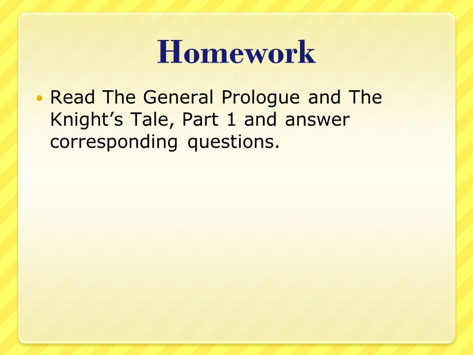 General Prologue 1.They are going to ask for the saint's help and healing.