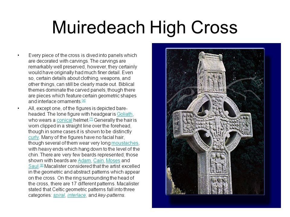 East Face of Muiredach Central Panel across the middle:This panel represents The Last Judgement.
