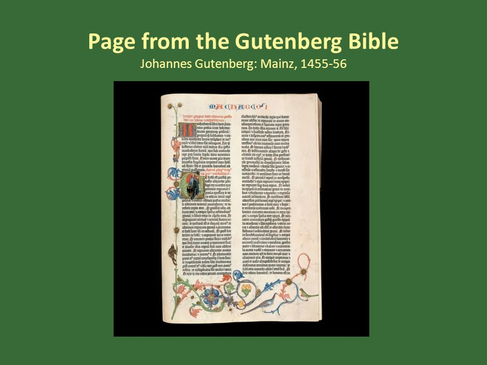 Page from the Gutenberg Bible Johannes Gutenberg: Mainz, 1455-56