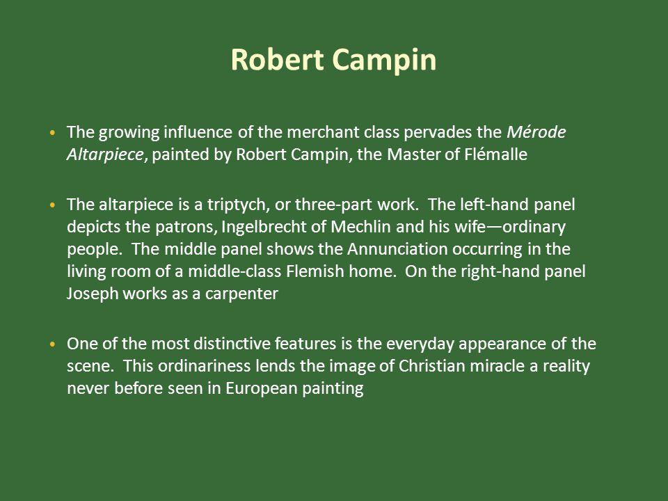 Robert Campin, Mérode Altarpiece Oil on panel, center 25-5/16 x 24-7/8 , each wing 25-3/8 x 10-7/8 ca.
