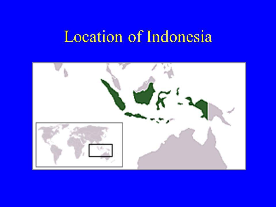 Location of Indonesia