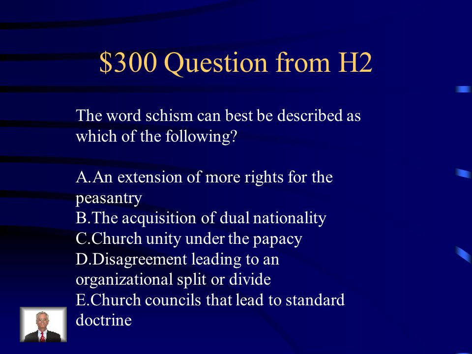 $200 Answer from H2 B. Islam had spread into southwestern Europe for many centuries after 700.