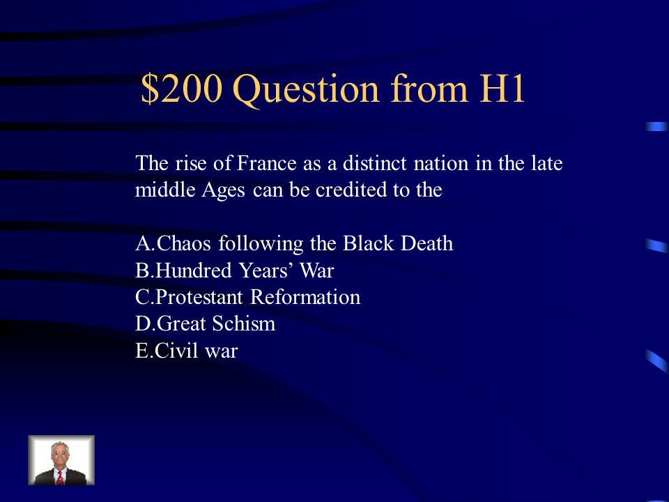 $200 Question from H5 The claim of papal authority in Rome has always been based on A.The riches of the church B.The apostolic succession traced back to Saint Peter C.Political sponsorship of the kings of Europe D.Secular political support E.The power of the College of Cardinals