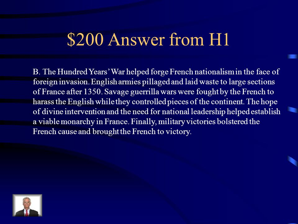 $200 Answer from H4 A.
