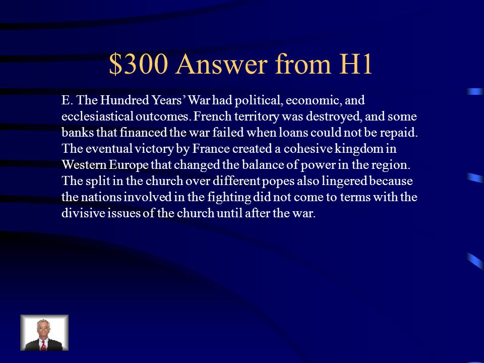 $300 Answer from H4 B.