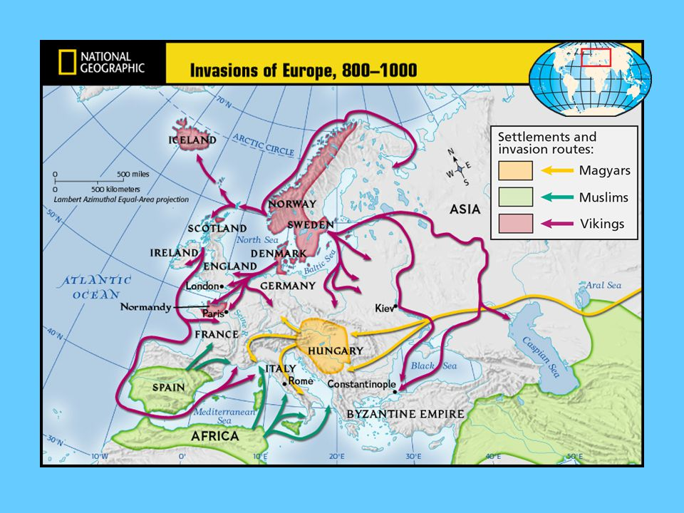 I. Invaders 1. Muslims, attacked the southern coast of Europe and sent raiding parties into southern France 2. Magyars, people from western Asia, move