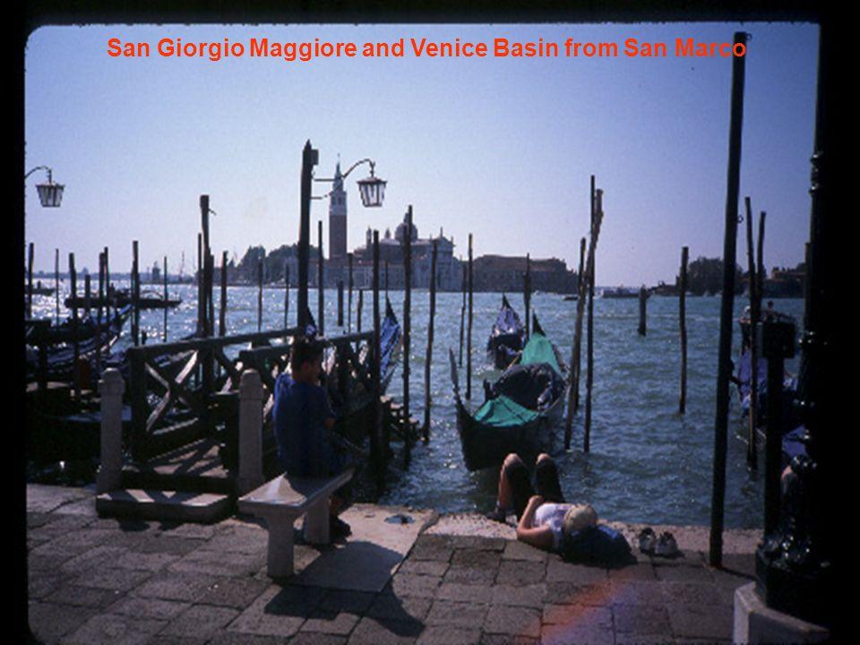 San Giorgio Maggiore and Venice Basin from San Marco