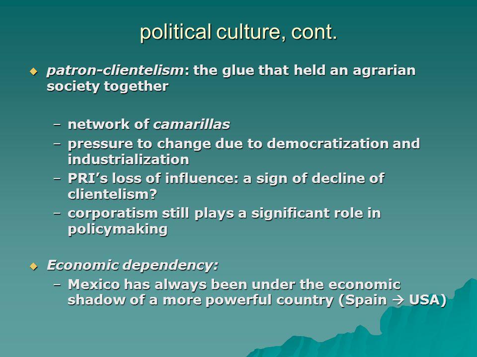 political culture, cont.
