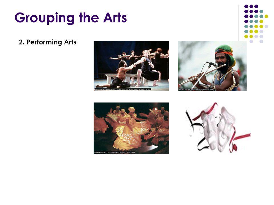 Grouping the Arts 2. Performing Arts