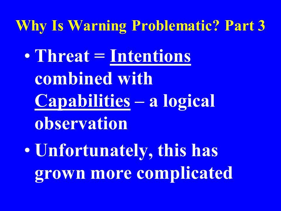 Why Is Warning Problematic.