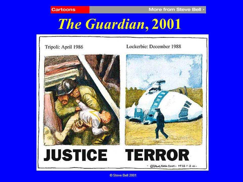 The Guardian, 2001 © Steve Bell 2001