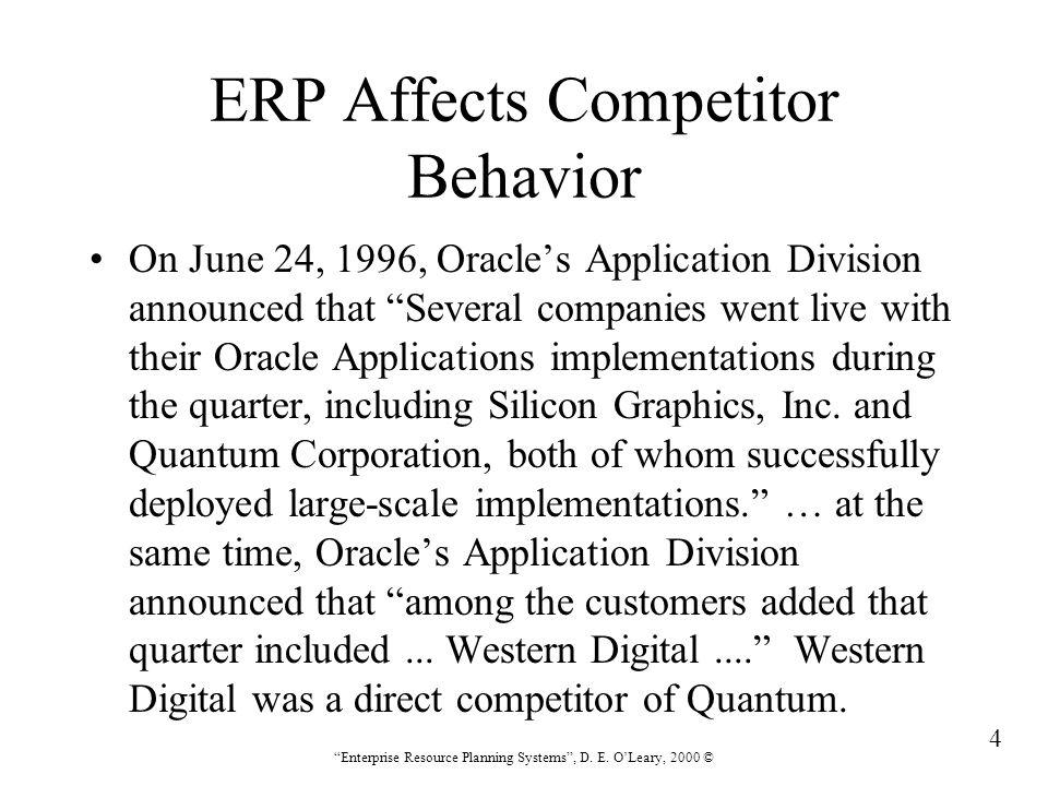 95 Enterprise Resource Planning Systems , D.E.