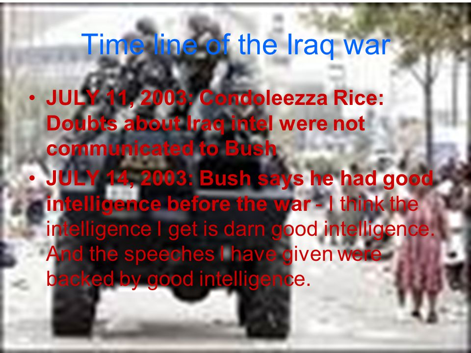 Time line of the Iraq war NOVEMBER 6, 2007: 2007 is deadliest year for U.S.