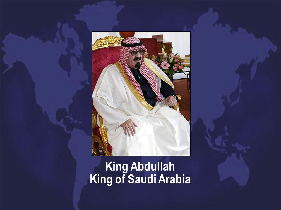 King Abdullah King of Saudi Arabia