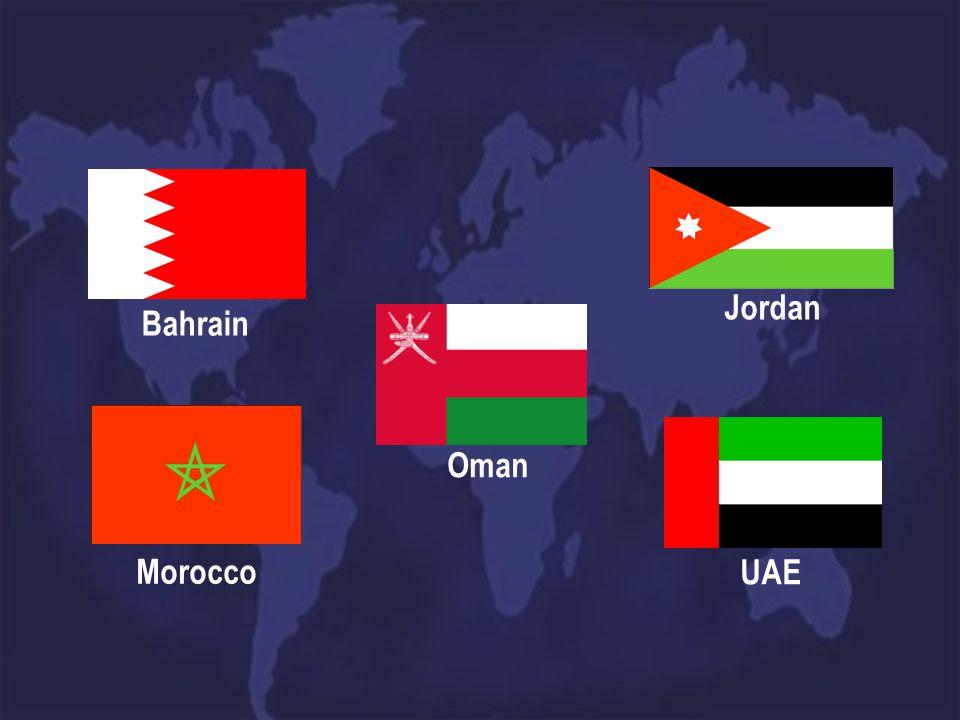 Oman Bahrain Morocco Jordan UAE