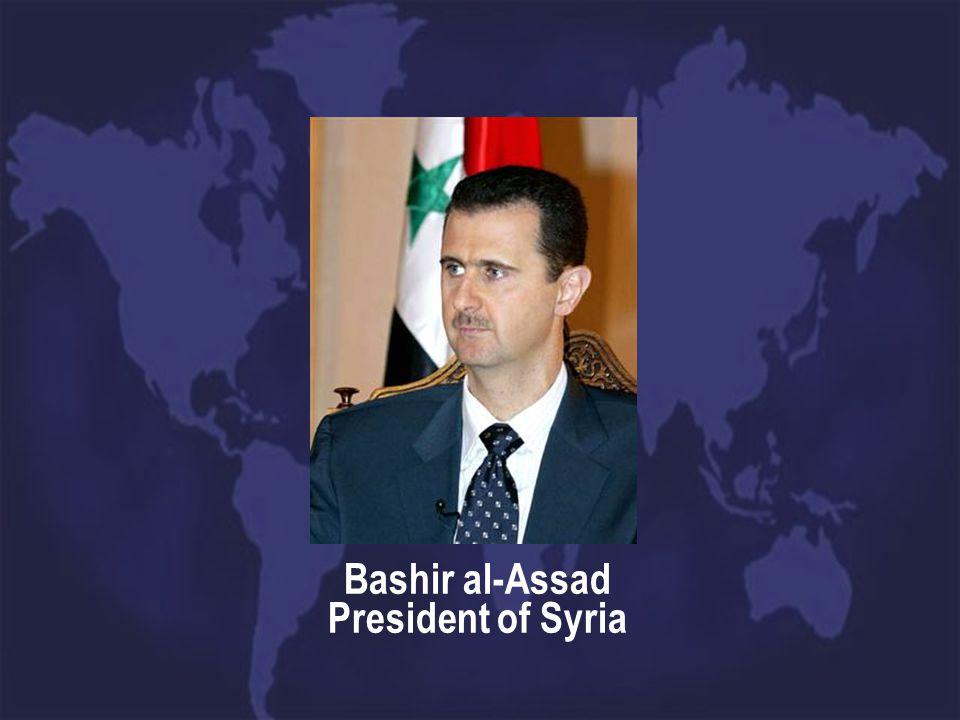 Bashir al-Assad President of Syria