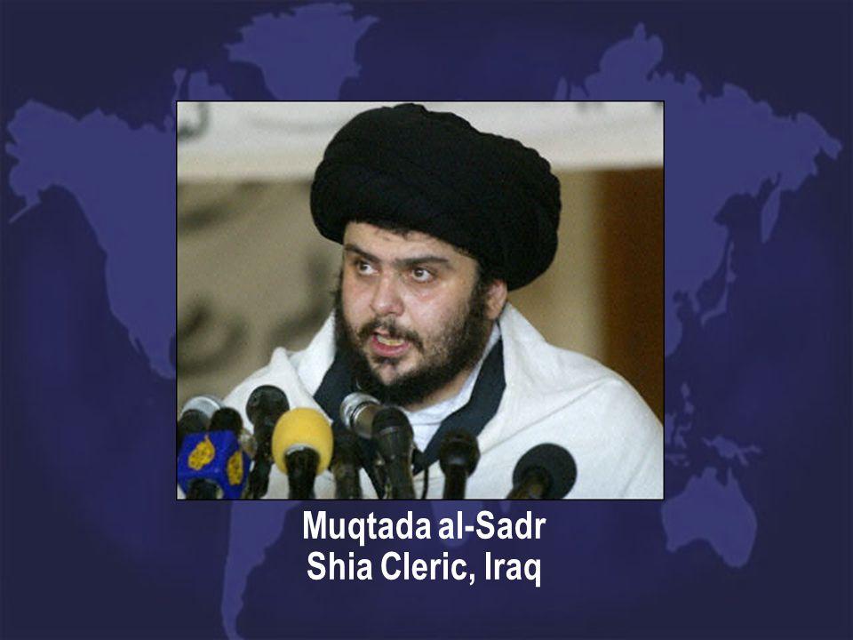 Muqtada al-Sadr Shia Cleric, Iraq