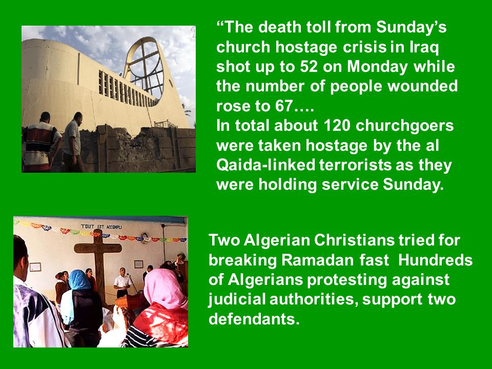 """Two Algerian Christians tried for breaking Ramadan fast Hundreds of Algerians protesting against judicial authorities, support two defendants. """"The de"""