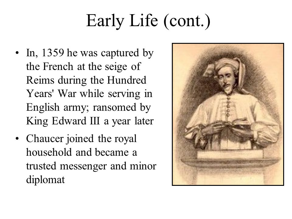 As a Royal Messenger Chaucer was frequently sent to the continent on secret business for the King.