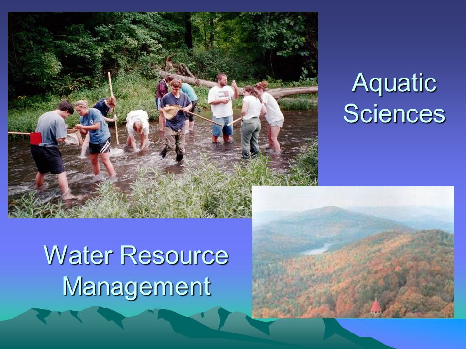 Water Resource Management Aquatic Sciences