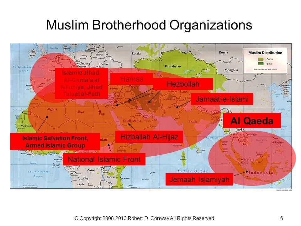 © Copyright 2008-2013 Robert D. Conway All Rights Reserved6 Muslim Brotherhood Organizations Islamic Jihad, Al-Gama'a al Islamiya, Jihad Talaat al-Fat
