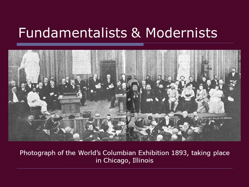 Fundamentalists & Modernists Photograph of the World's Columbian Exhibition 1893, taking place in Chicago, Illinois