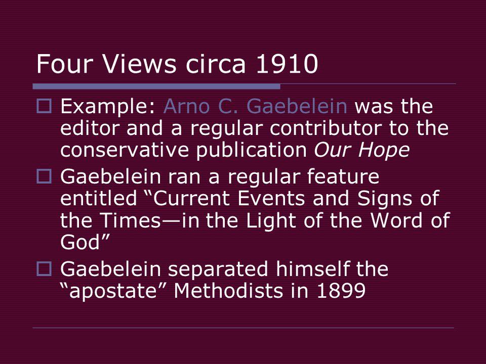 Four Views circa 1910  Example: Arno C.