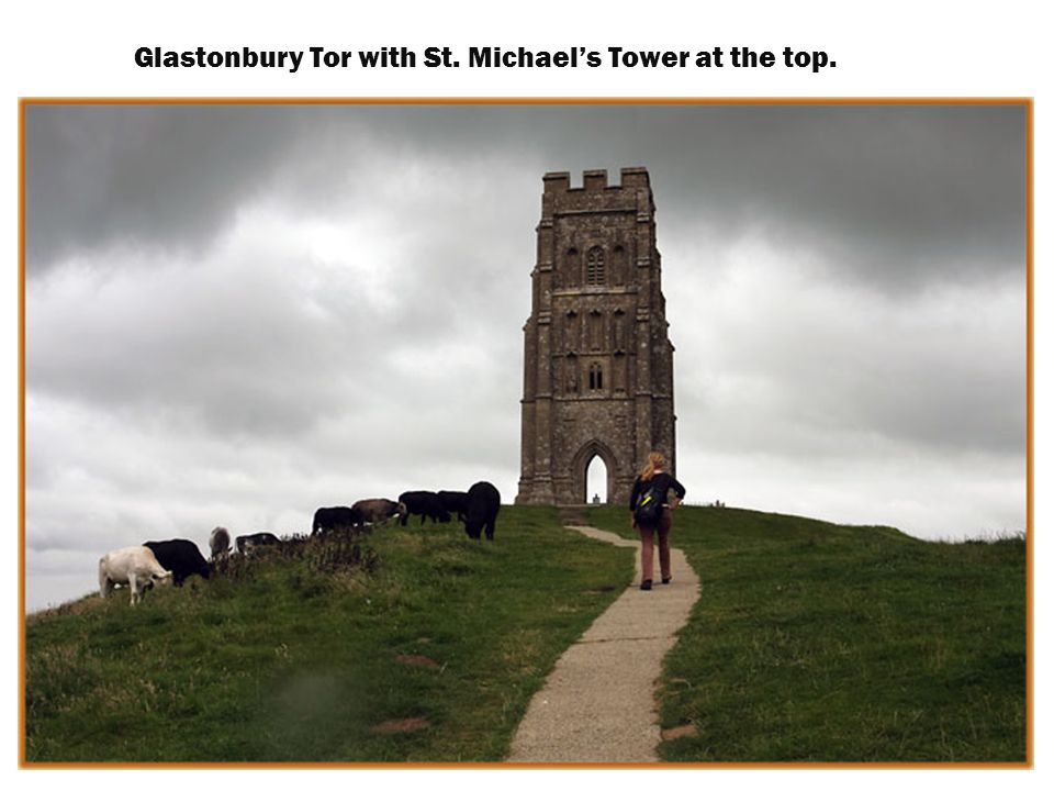 View from the top of Glastonbury Tor.