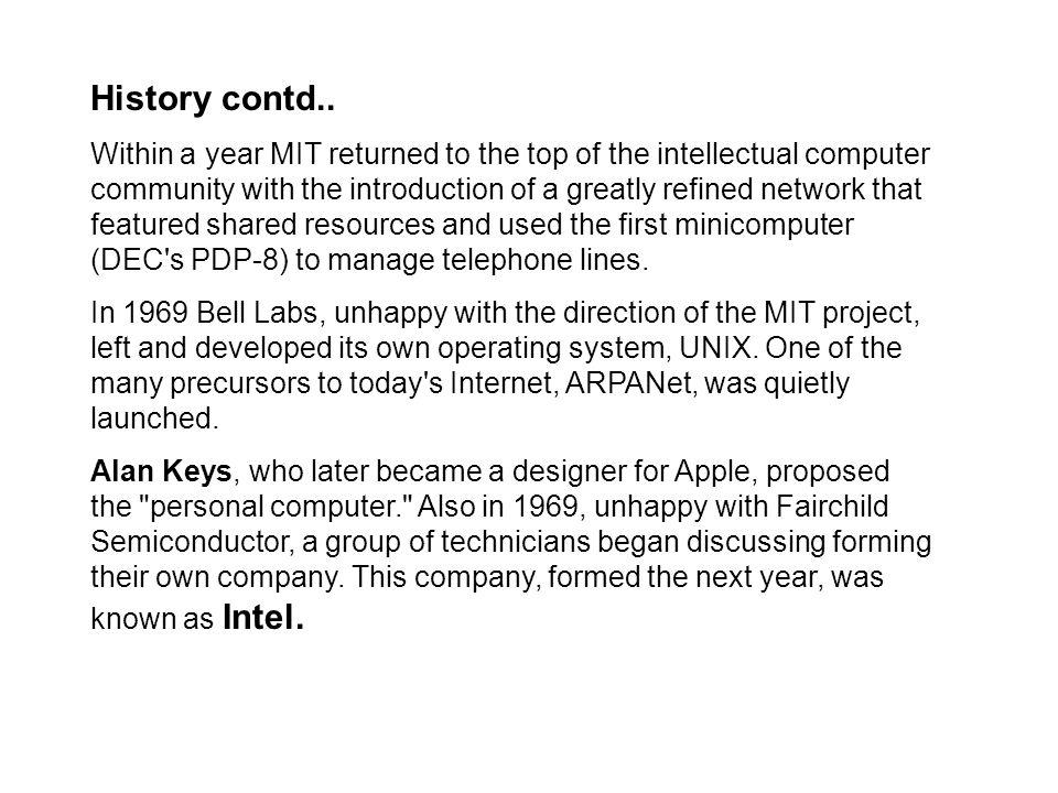 History contd..