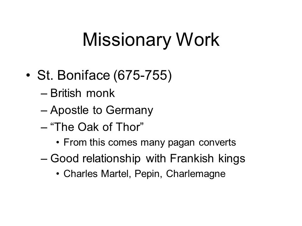Missionary Work St.