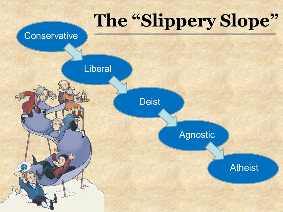 """Conservative Liberal Deist Agnostic Atheist The """"Slippery Slope"""""""