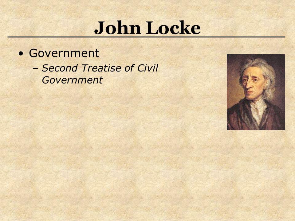 John Locke Government –Second Treatise of Civil Government