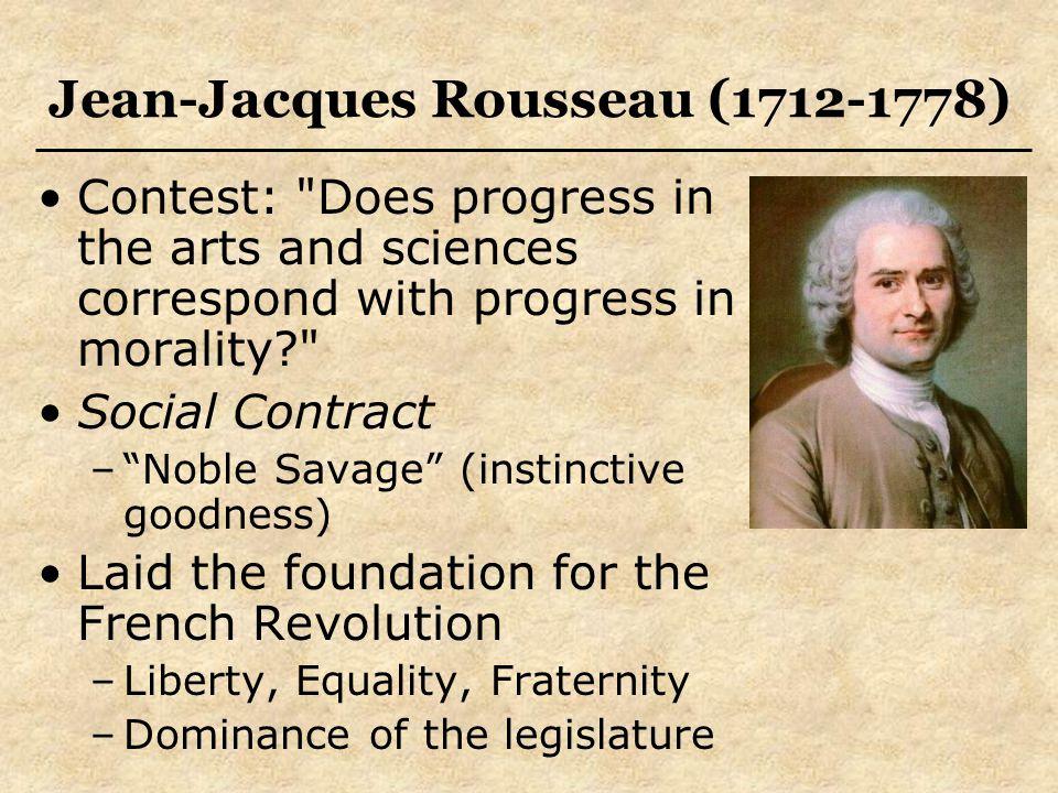 Jean-Jacques Rousseau (1712-1778) Contest: