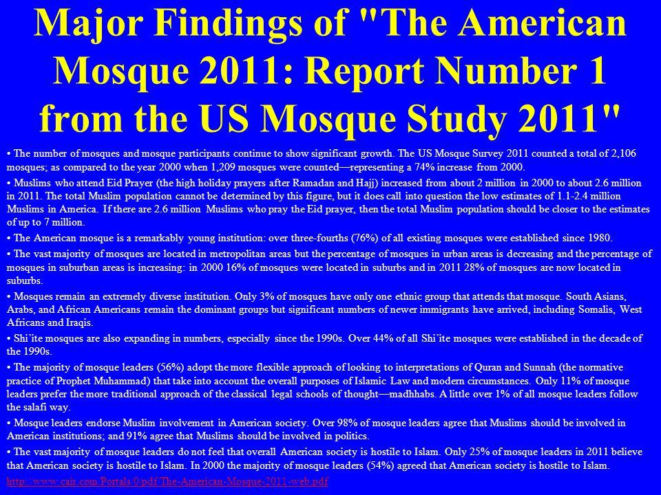 Major Findings of