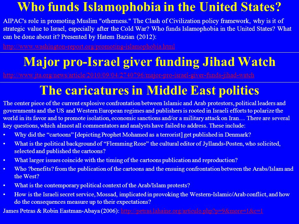 Who funds Islamophobia in the United States? AIPAC's role in promoting Muslim