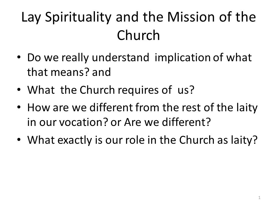 The Constitution on the Church emphasizes: there are various religious families within the Church all the work of the Holy Spirit.