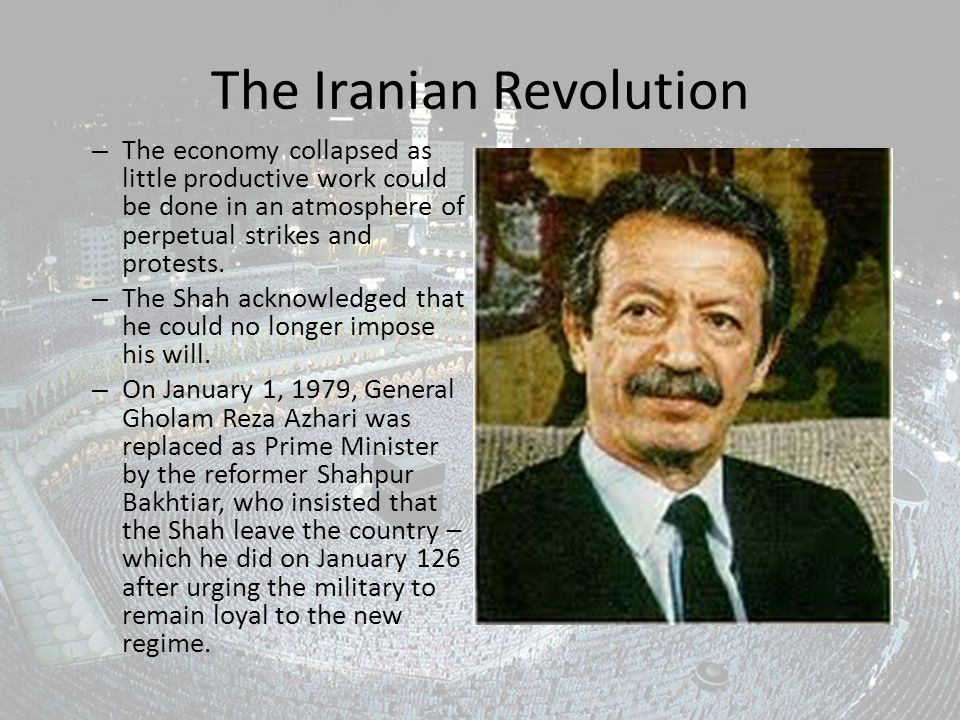 The Iranian Revolution – The economy collapsed as little productive work could be done in an atmosphere of perpetual strikes and protests.