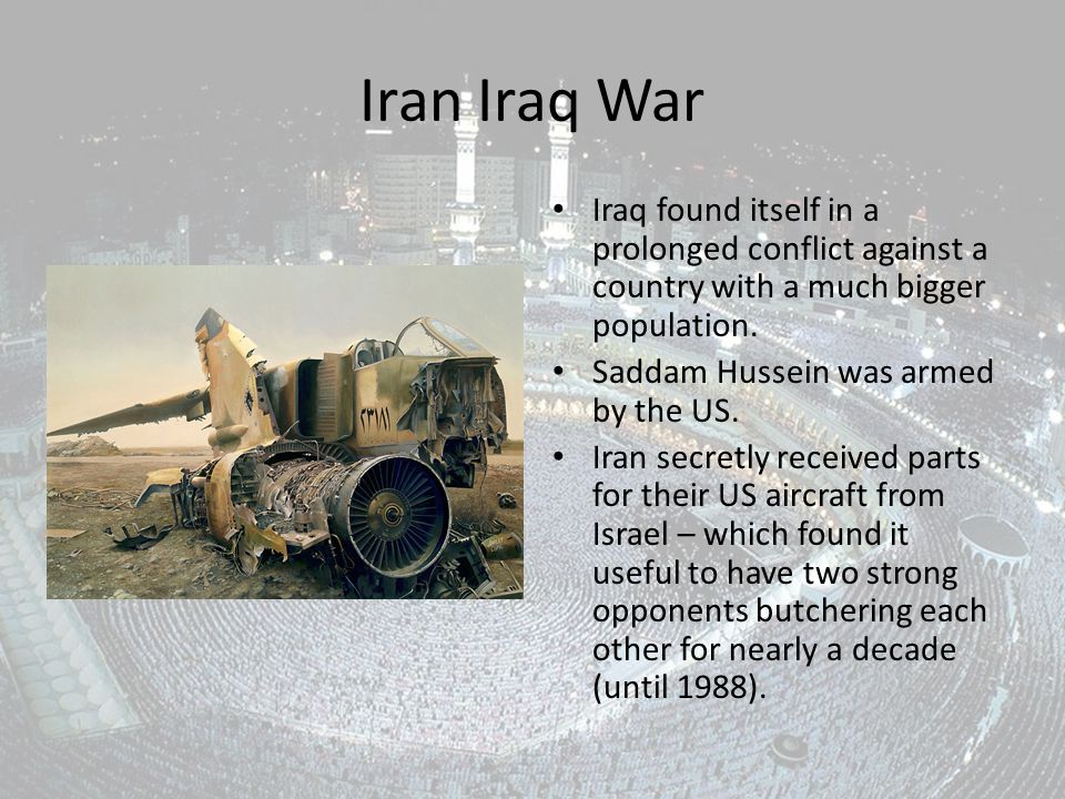 Iran Iraq War Iraq found itself in a prolonged conflict against a country with a much bigger population.