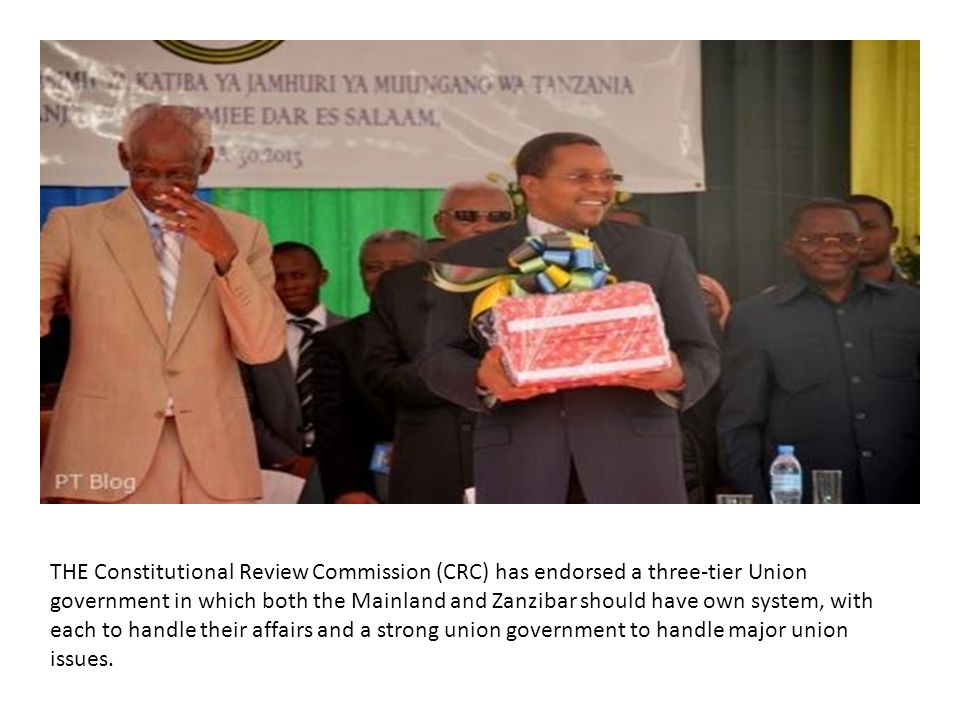 THE Constitutional Review Commission (CRC) has endorsed a three-tier Union government in which both the Mainland and Zanzibar should have own system, with each to handle their affairs and a strong union government to handle major union issues.