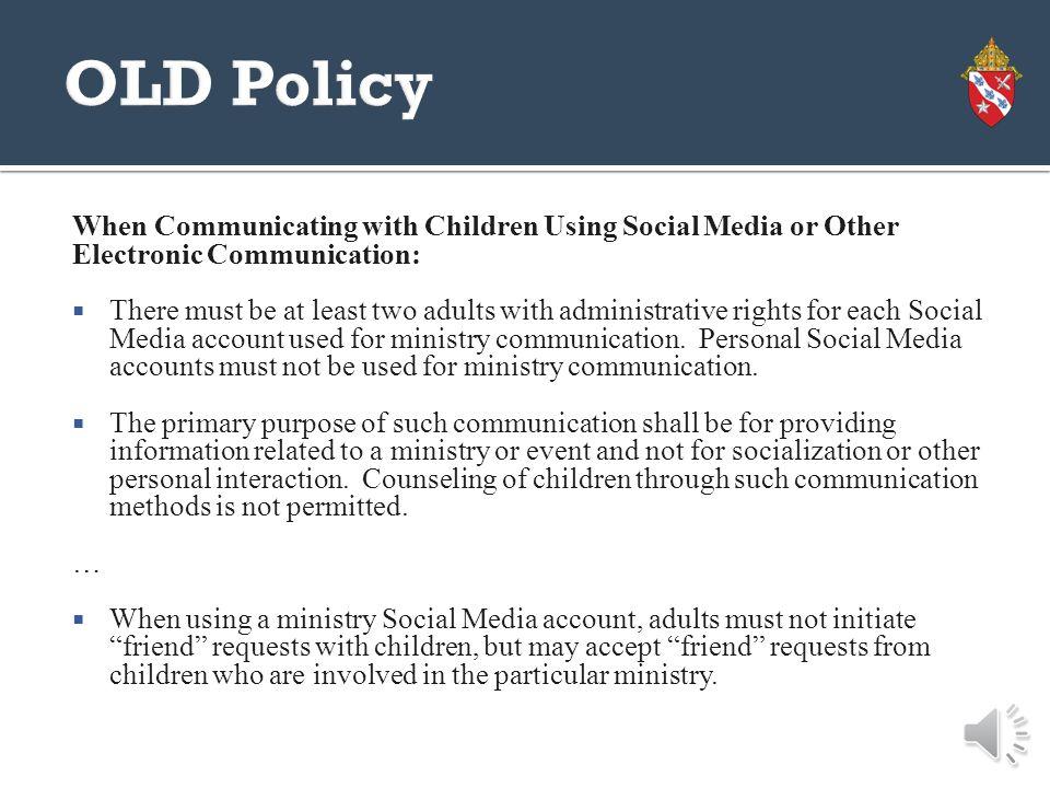 Friending Children on Social Media