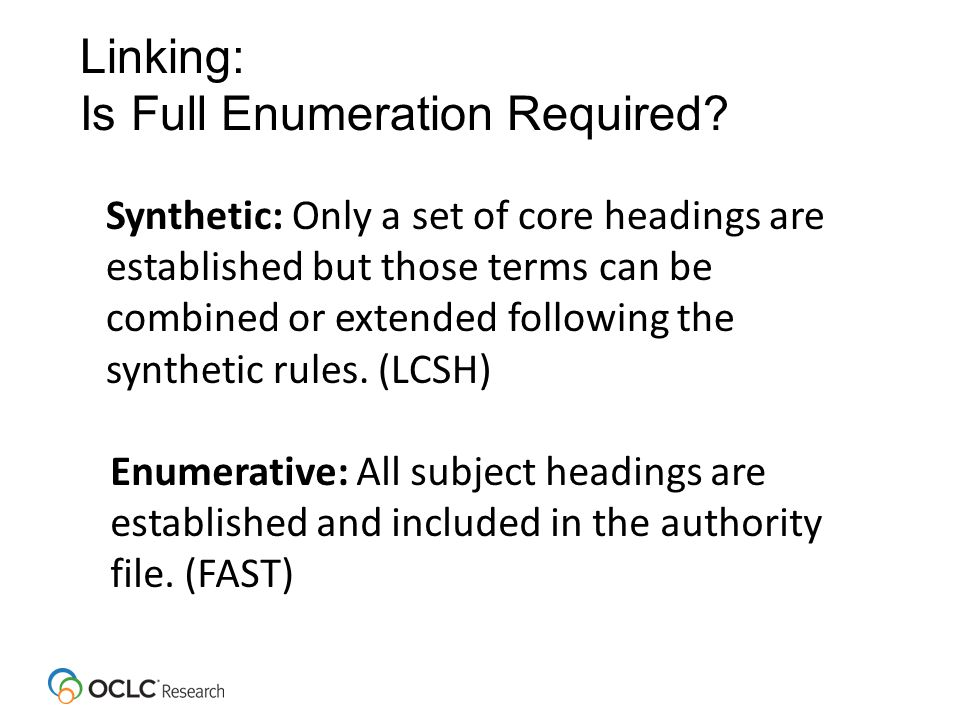 Linking: Is Full Enumeration Required.