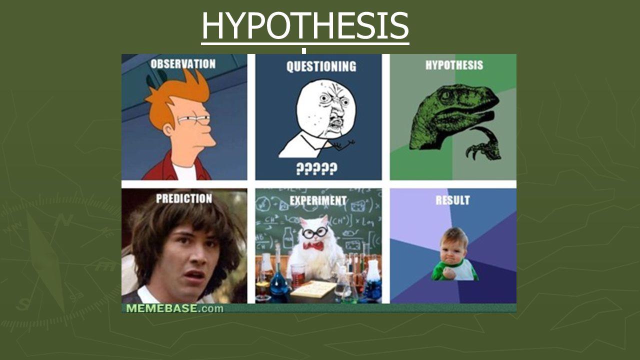 HYPOTHESIS EXPERIMENT OBSERVATION CONCLUSION